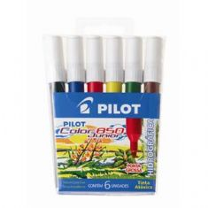 Foto Conjunto Pincel Atômico Pilot Color 850 Junior 6 cores